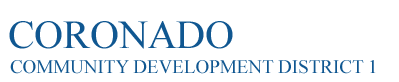Coronado Community Development District 1 Logo